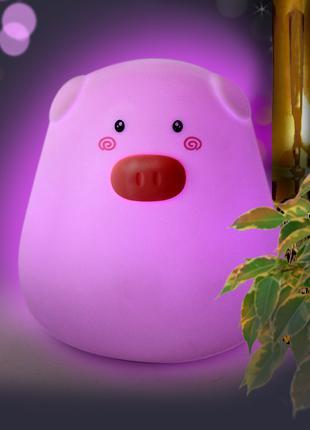 Детский ночник сенсорный светильник Свинка Light Pig