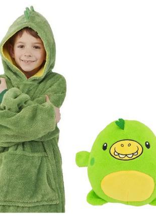 Детский худи-трансформер толстовка Huggle Pets Динозаврик