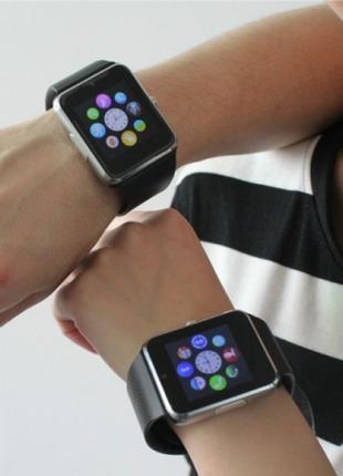 Умные часы Smart Watch А1. Смарт-часы А1 (золотые, красные, че...