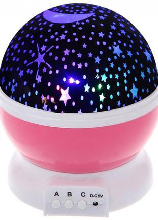 Ночник-проектор звездного неба Star Master Стар Мастер розовый