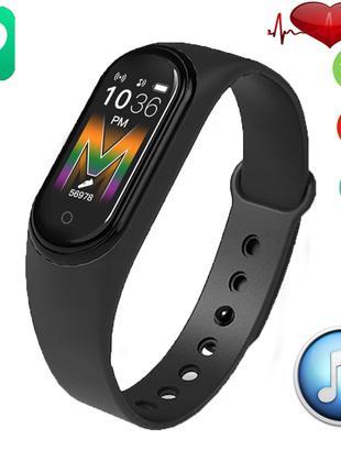 Фитнес браслет Smart Band M5 Voice Black  Встроенный динамик и...