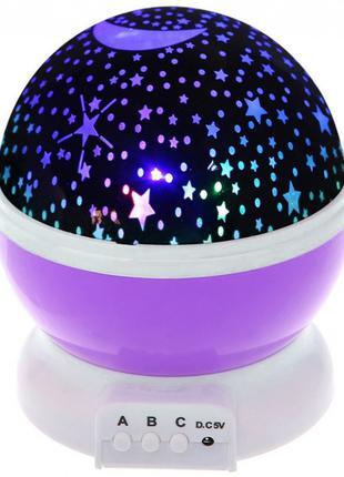 Ночник-проектор звездного неба Star Master Стар Мастер фиолетовый