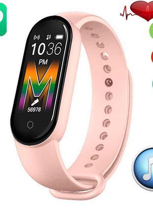Фитнес браслет Smart Band M5 Voice Pink  Встроенный динамик и ...