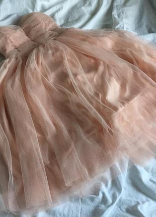 Платье пышное фатиновая юбка пачка выпускное нарядное коктейль...