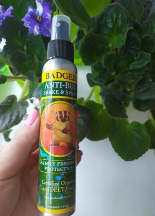 Органический и натуральный спрей-репеллент от насекомых комаро...