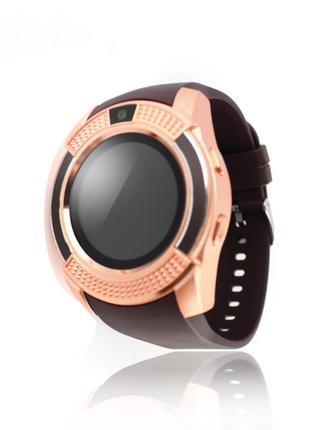 Умные смарт часы Smart Watch V8 медные