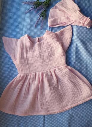 Комплект из муслина платье муслин детская туника муслиновая