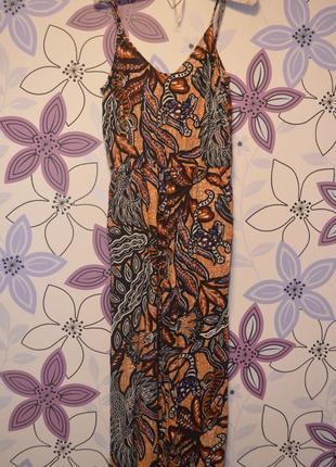 Комбинезон с брюками кюлотами с цветочным рисунком