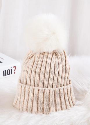 Детская шапка с помпоном арт. 13145