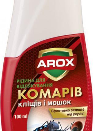 Жидкость от комаров клещей и мушек 100 мл Arox