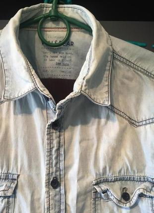 Джинсова рубашка Pull & Bear