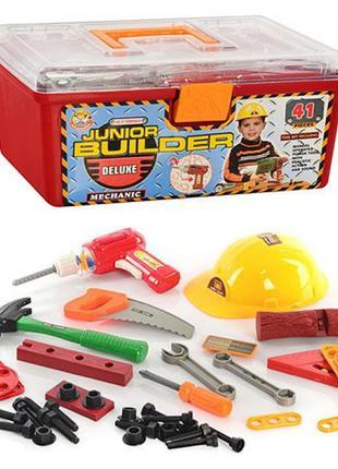 Игровой набор инструментов для мальчика в чемодане 2058 с дрел...