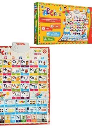 Развивающий и обучающий плакат для ребенка Limo Toy 7031 ENG-P...