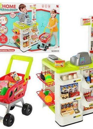 """Детский игровой набор """"Супермаркет"""" (668-03) с кассой, тележко..."""