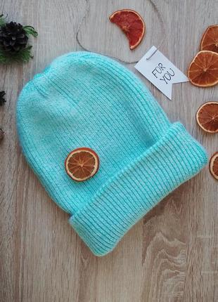 Зима 2020! женская шапка зимняя ангора