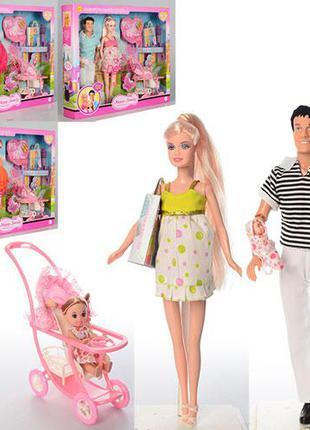 Игровой набор кукол Дефа, семья 8088, с новорожденным малышом,...