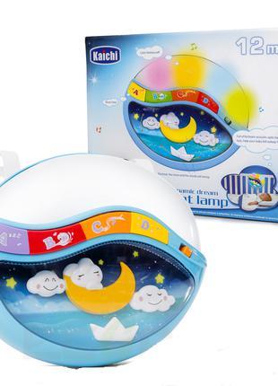 Детский музыкальный ночник 999-108B со звуковыми и световыми э...