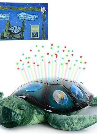 Детский мягкий ночник светильник Спящая черепаха YJ 3 с проект...