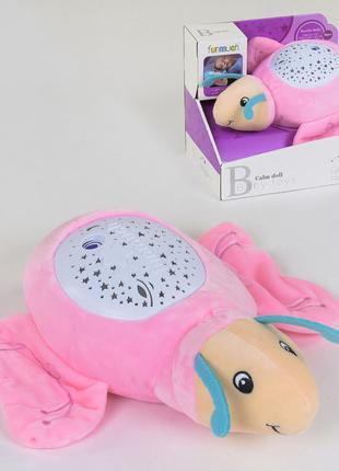 Детский мягкий ночник светильник Бабочка FM 666-12 с проекторо...