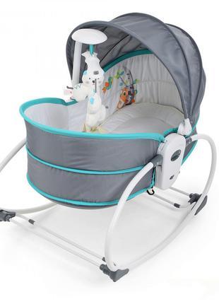 Детская люлька-качалка с вибрацией и музыкой для детей 5 в 1 M...