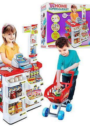 """Детский игровой набор """"Супермаркет"""" (668-01) с кассой, тележко..."""