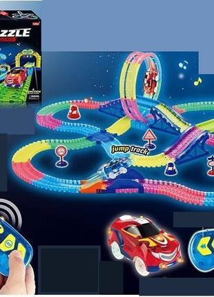 Детский, яркий гоночный трек с пультом управления и машинкой к...
