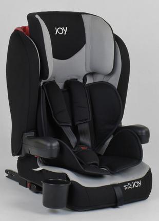 Автокресло универсальное для ребенка JOY 38148 Черный с серым,...