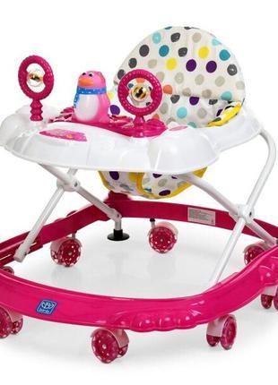 Детские ходунки каталка с силиконовыми колесами для девочки «B...