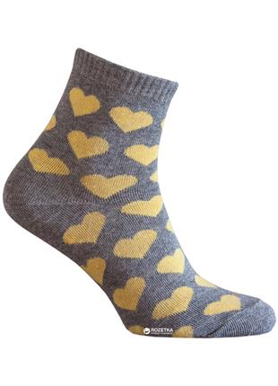 Носки лана сердечки желтые хлопок!