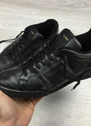 Крутые кожаные кроссовки reebok classic lacoste!