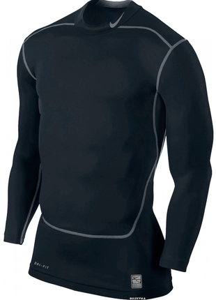 Крутая мужская термо-кофта nike pro combat dri-fit core compre...