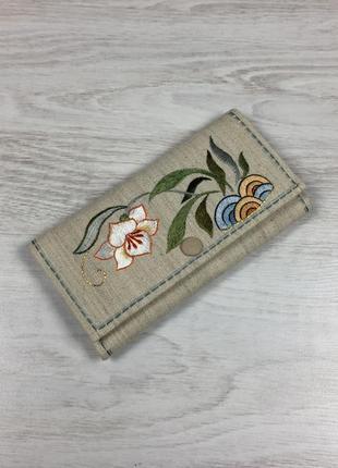 Красивый женский кошелек бумажник с рисунком цветами pierre ca...