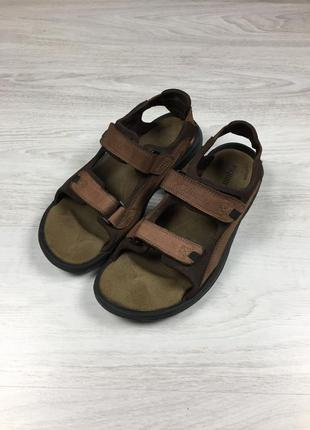 Мужские фирменные кожаные сандалии columbia teva!