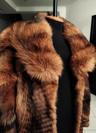 Шикарное меховое манто пальто шуба поперечка трапеция натураль...