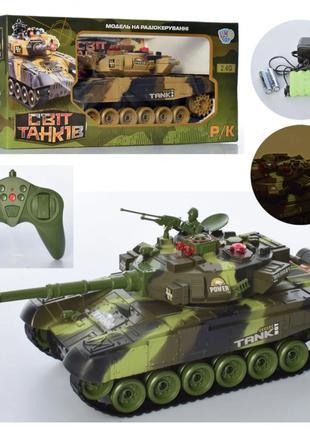 Детский танк на радиоуправлении для ребенка М 5524 (2 цвета) с...