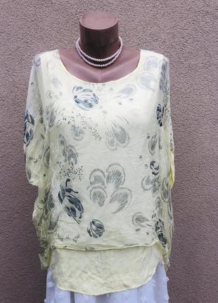 Шелковая блуза реглан,рубаха,пайетки,этно бохо стиль, италия,