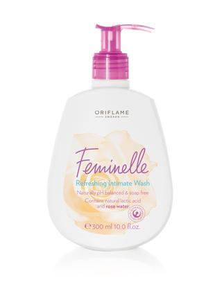 Освежающее средство для интимной гигиены с розовой водой feminell