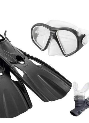 Детские ласты и маска с трубкой для подводного плавания, от 14...