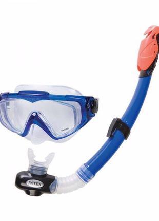 Маска для плавания детская с трубкой, от 14 лет, Intex