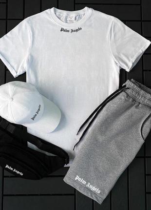 Стильный мужской летний спортивный костюм + кепка и барсетка в...