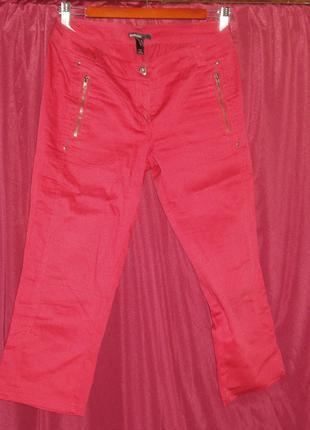 Бриджи женские Mango красного цвета 42/S размер