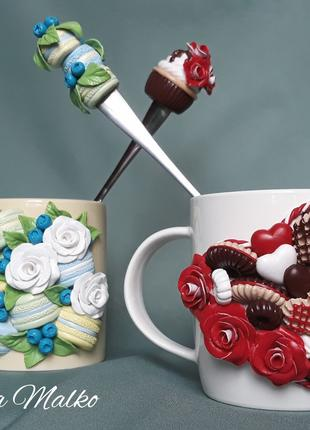 Чашка с розами