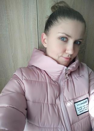 Женская зимняя удлиненная куртка, размер м, в отличном состоянии!