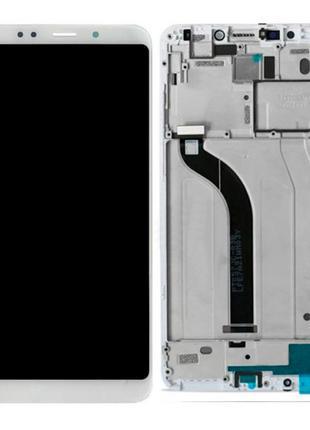 Дисплей Xiaomi Redmi 5 с тачскрином (White) в рамке