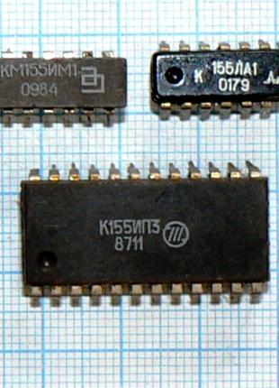 микросхемы отечественные 155 серии ТТЛ 53 наименования