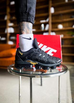 Мужские кроссовки nike air vapor max plus black gold,кроссовки...