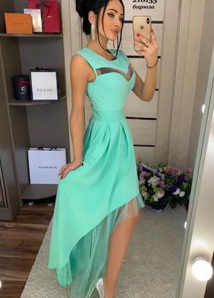 Красивенное мятное платье