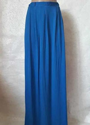 Фирменная atmosphere вискозная юбка в пол сочного синего цвета...