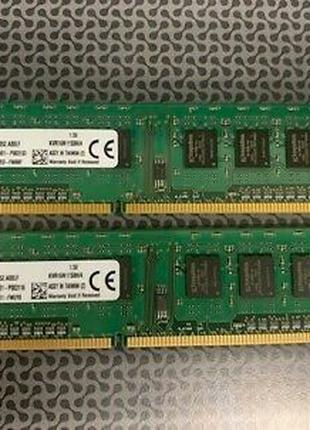 Две планки KingstonDDR3 4GB 1600MHz 240-Pin