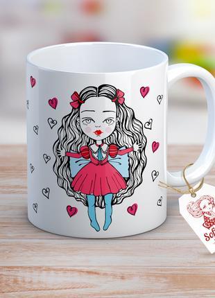 """Дизайнерская чашка """"Алиса в стране чудес"""""""